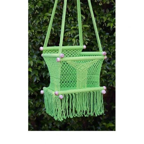 Crochet Baby Chair - Pistachio Green