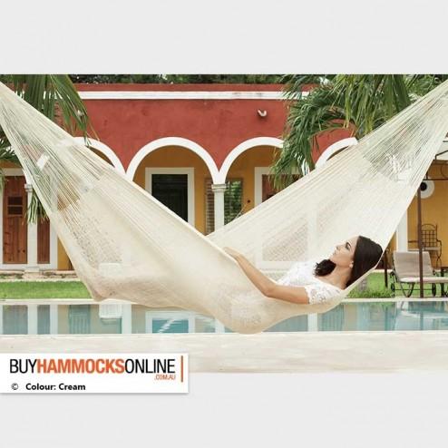 Single Cotton Hammock - Cream