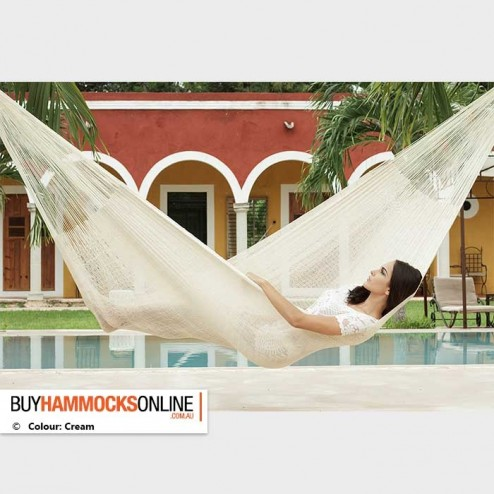 King Cotton Hammock - Cream