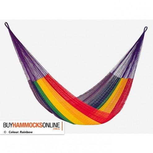 Queen Cotton Hammock - Rainbow