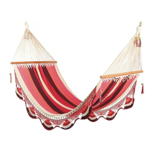 Double Nicaraguan Hammock - Mixed Red
