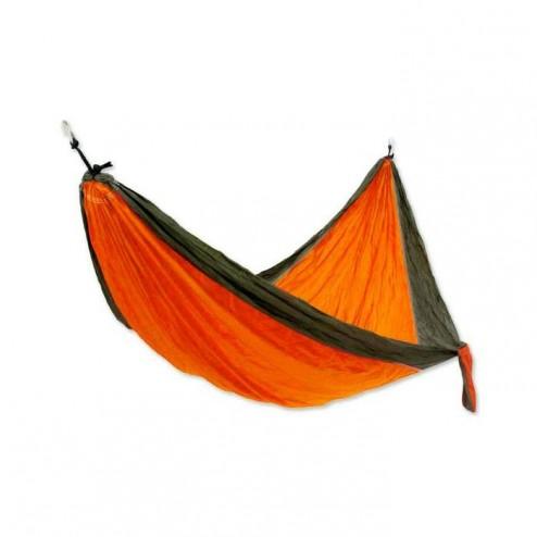 Large Orange and Black Parachute Hammock