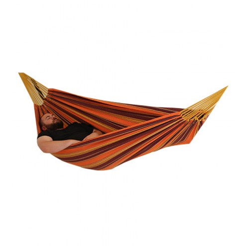 Double Hammock in Purple and Orange Isolated