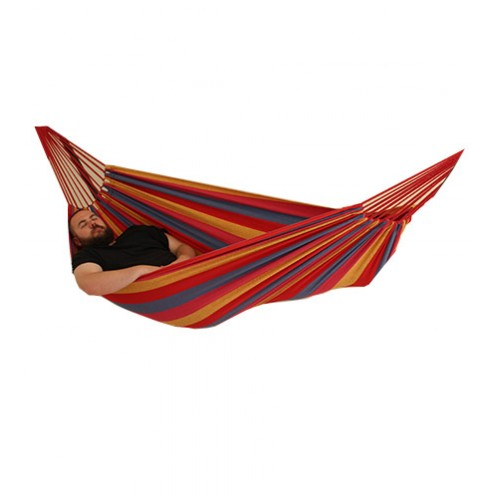 Double Hammock in Red, Yellow and Blue isolated