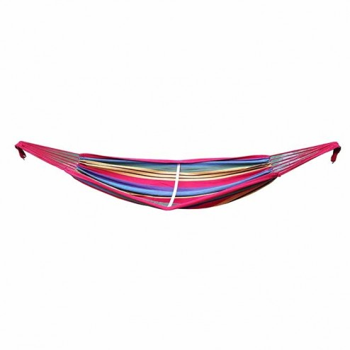 Medium Purple and Red Multi Coloured Canvas Hammock