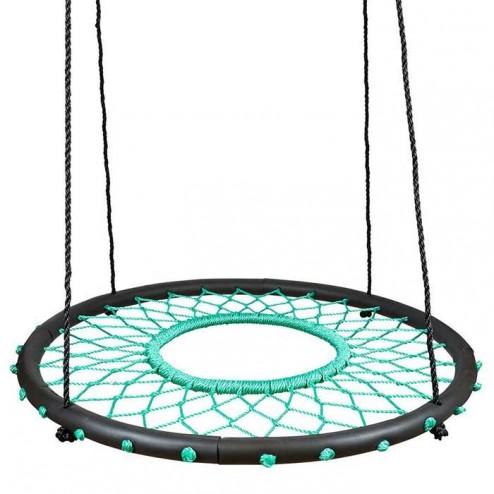 100cm Teal Web Nest Tire Swing