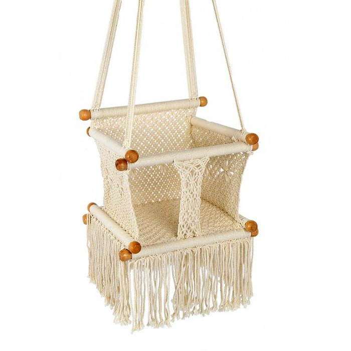 crochet baby chair   cream crochet baby chair   a great option to hang your kids for everyday fun  rh   buyhammocksonline   au