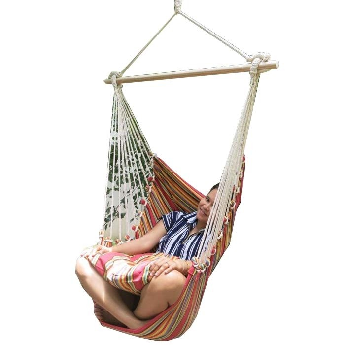 red multi colour canvas hammock chair with pillows red multi colour canvas hammock chair with pillows   bho  rh   buyhammocksonline   au
