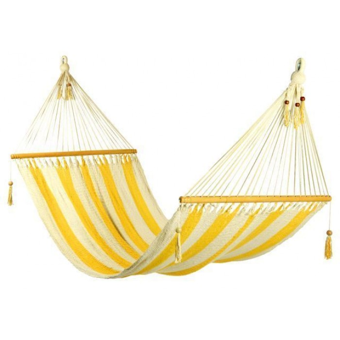 double nicaraguan hammock   yellow white stripes no crochet     large nicaraguan hammock  luxury hammock available in australia   bho  rh   buyhammocksonline   au