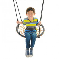 60cm Orange Round Spider Web Nest Swing