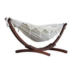 Solid Pine Frame & Double Hammock Combo - Natural