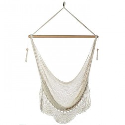 Large Nicaraguan Hammock Chair with Crochet Edge
