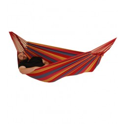 Relax Double Hammock in Red, Yellow & Blue