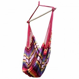 Red and Purple Canvas Hammock Chair