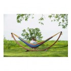 Solid Pine Frame & Double Hammock Combo - Tropical