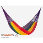 Jumbo Cotton Hammock - Rainbow