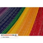 Single Cotton Hammock - Rainbow