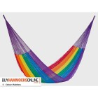 Jumbo Plus Nylon Hammock - Rainbow