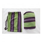 Double Hammock in Purple and Green with bag