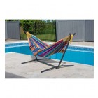Tropical Double Hammock & Stand Combo