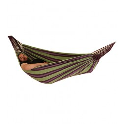 Relax Double Hammock in Purple and Green
