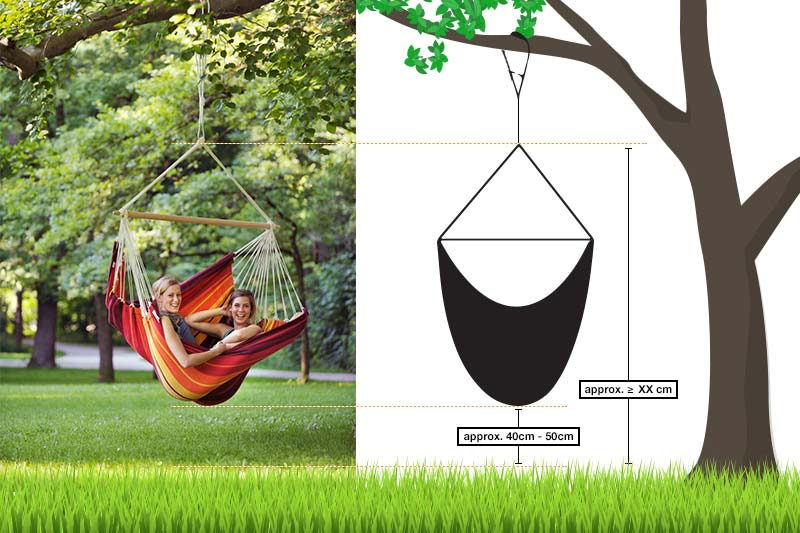 Diagram Showing How To Hang Your Hanging Chair