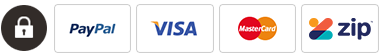PayPal - Visa - Master Card - Zip